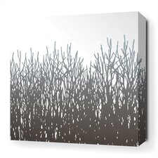 Field Grass Stretched Wall Art in Artic Sky