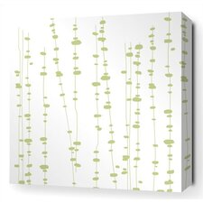 <strong>Inhabit</strong> Pussy Willows Stretched Wall Art in White / Celery