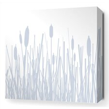 <strong>Inhabit</strong> Cattails Stretched Wall Art in Ice