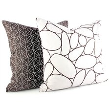 <strong>Inhabit</strong> Madera River Rock Suede Throw Pillow