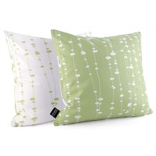 Estrella Pussy Willows Linen Throw Pillow
