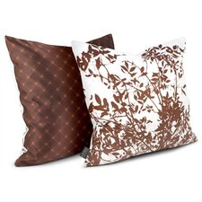 Rhythm Brush Sateen Throw Pillow in White
