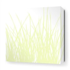 Grass Stretched Wall Art in Dew