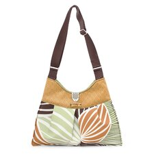 Kennedy Leaf Handbag in Grass / Butterscotch