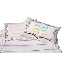 Doodle Cotton Pillowcase