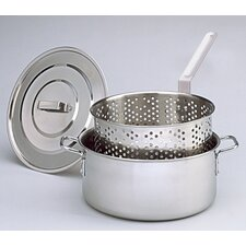 Deep Fryer with Lid, Two Helper Handles and Basket