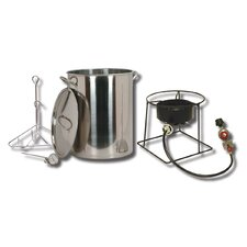 <strong>King Kooker</strong> Turkey Fryer Package with Stainless Steel Pot