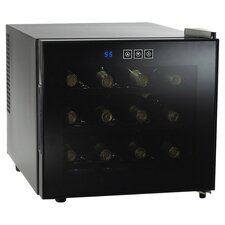 <strong>Wine Enthusiast</strong> Silent 12 Bottle Touchscreen Wine Refrigerator