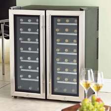 <strong>Wine Enthusiast</strong> Silent 48 Bottle 2-Zone Wine Refrigerator