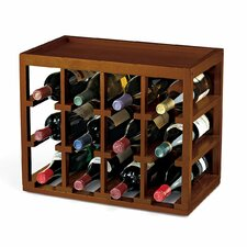 <strong>Wine Enthusiast</strong> Stackable Cube 12 Bottle Wine Rack