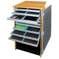 10 - Compartment Infinity Mobile Device Cart