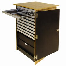 Infinity Mobile Device Cart with 10 Drawers and Open