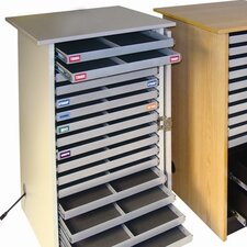 Infinity Mobile Device Cart with 16 Drawers