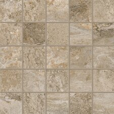 "Emperor 11-3/4"" x 11-3/4"" Glazed Mosaic in Napoleon (Set of 4)"