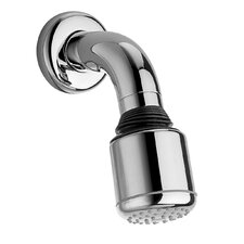 Jewel Shower Series Adjustable Anti Lime Shower Head with Cast Brass Shower Arm