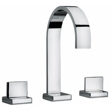 <strong>Jewel Faucets</strong> J15 Bath Series Two Lever Handle Roman Tub Faucet with Classic Ribbon Spout