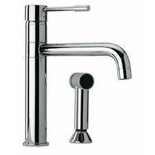 <strong>Jewel Faucets</strong> J25 Kitchen Series Modern Single Lever Handle Two Hole Kitchen Faucet with Side Sprayer