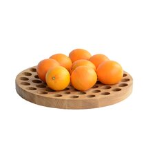Geo Solid Oak Fruit Bowl