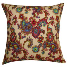 Groovy Paisley Cotton Pillow