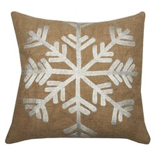 Snowflake Jute Pillow