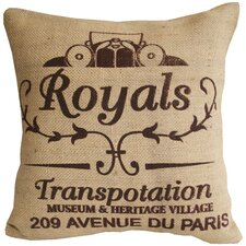 Royals Jute Cotton Pillow