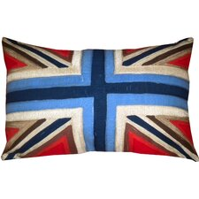 Embroidered Union Jack Cotton Pillow