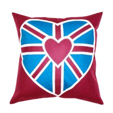 Heart Union Jack 1 Cotton Pillow