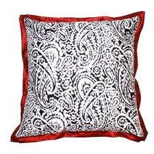 Lady Paisley Cotton Pillow