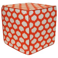 Circles Cotton Pouf Ottoman