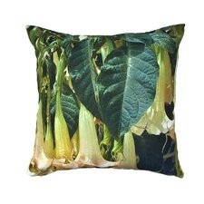 Trumpet Flowers Outdoor Pillow