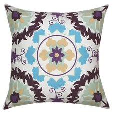 <strong>Divine Designs</strong> Suzani Ikat Cotton Pillow