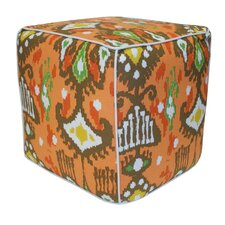 <strong>Divine Designs</strong> Dijon Cotton Pouf Ottoman