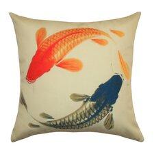Lucky Koi Outdoor Pillow