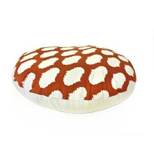 Ikat Circles Round Dog Pillow