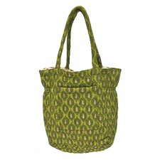 <strong>Divine Designs</strong> Anna Block Print Tote Bag