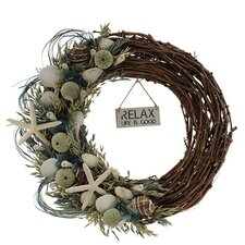 Summer Sea Glass Coastal Wreath