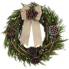 Holiday Lotus and Willow Wreath