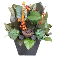Autumn Rustic Vineyard Desk Top Plant in Planter