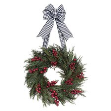 Holiday Houndstooth Holiday Wreath