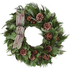 Holiday Cheerful Holiday Greetings Wreath