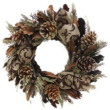 Holiday Copper Sparkle Wreath