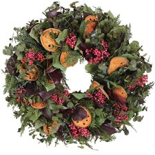 Autumn Quince and Pepper Berry Wreath