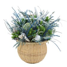 <strong>Urban Florals</strong> Summer Ocean Potion Grass in Round Basket