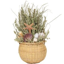 <strong>Urban Florals</strong> Summer Shoreline Grass in Basket