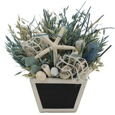 Summer Sea Glass Coastal Grass in Planter