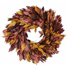 Autumn Fall Preserved  Myrtle Wreath
