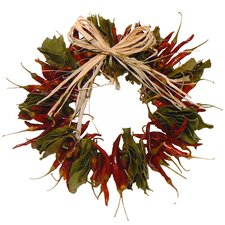 Autumn Chilies Wreath