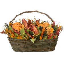 Indian Summer Protea Table Top Basket