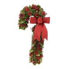 Berry Christmas Candy Cane Wreath