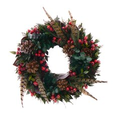 Pheasant Holiday Christmas Wreath